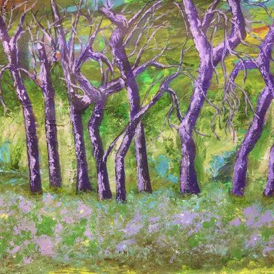 Maribel Matthews Purple Trees